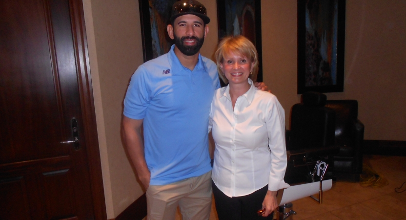 Toronto Blue Jays José Bautista and Urban Philosophy owner Elena Joukova