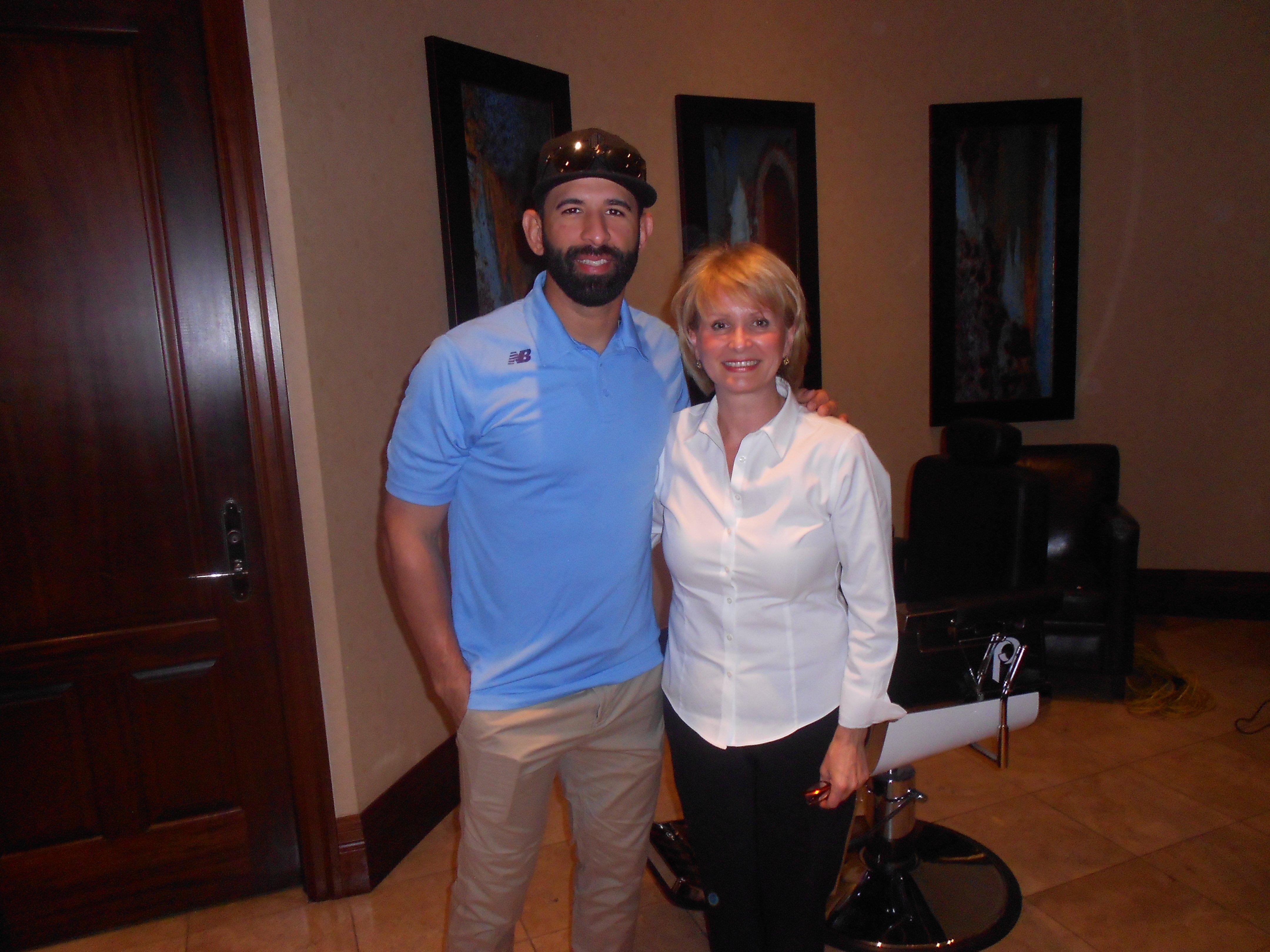 Toronto Blue Jays José Bautista and Urban Philosophy owner Elena Joukova